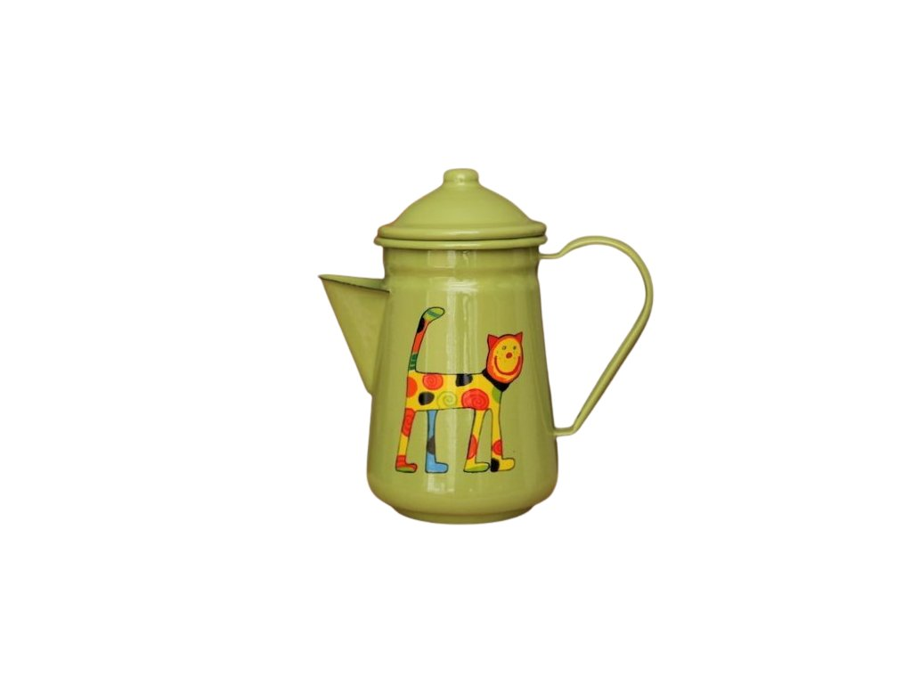 1029 coffee pot with cat
