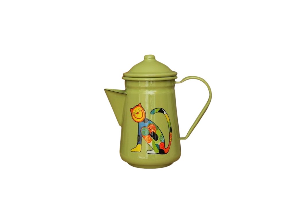1032 coffee pot with cat