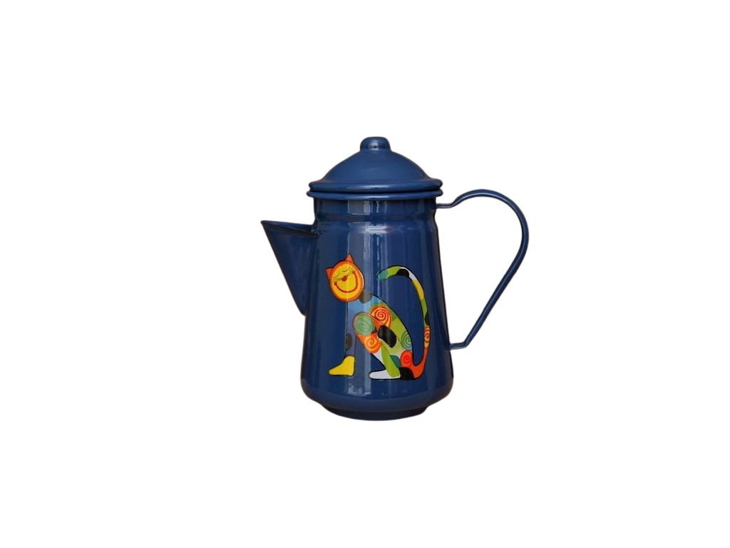 1065 coffee pot with a cat