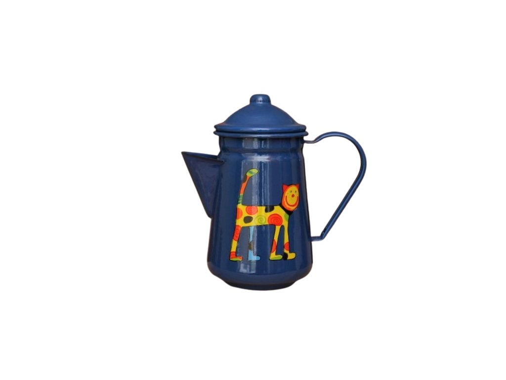 1068 coffee pot with a cat