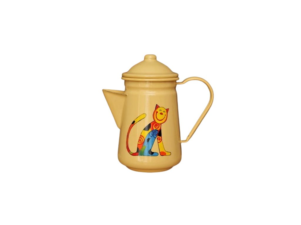 1071 coffee pot with a cat