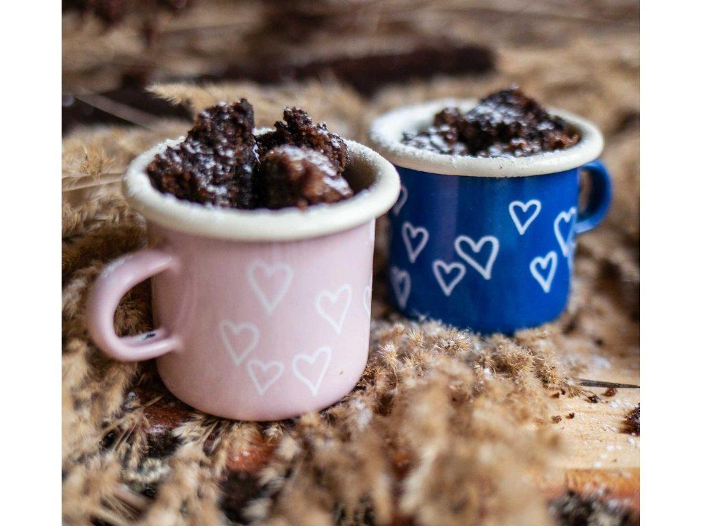 Enamel mini espresso mugs valentines day gift for two
