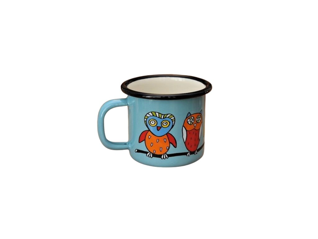 1401 mug with an owl