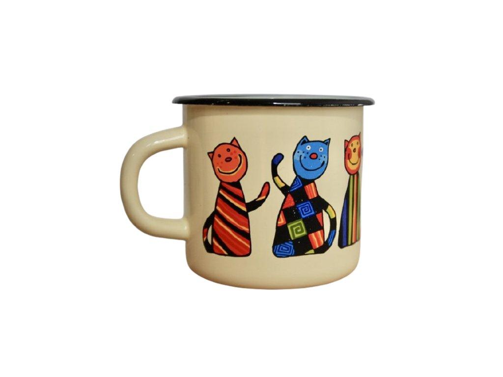 140 enamel mug cream motive cat