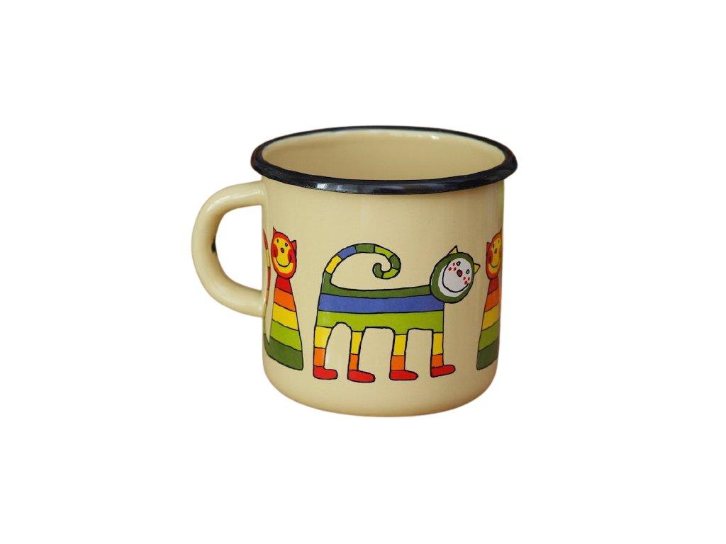 1410 enamel mug cream motive cat
