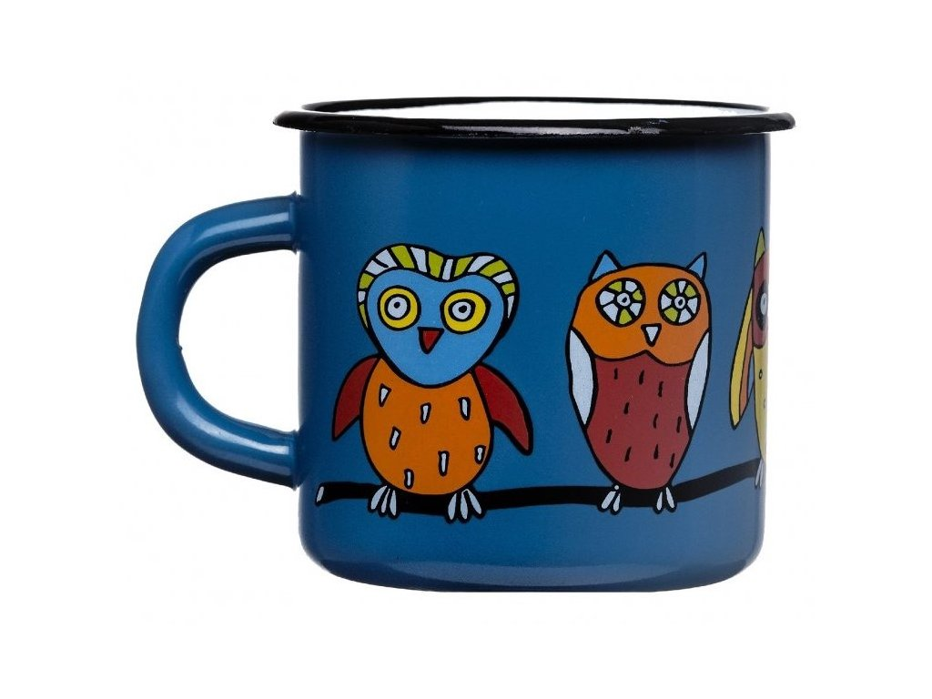 1434 5 mug with an owl
