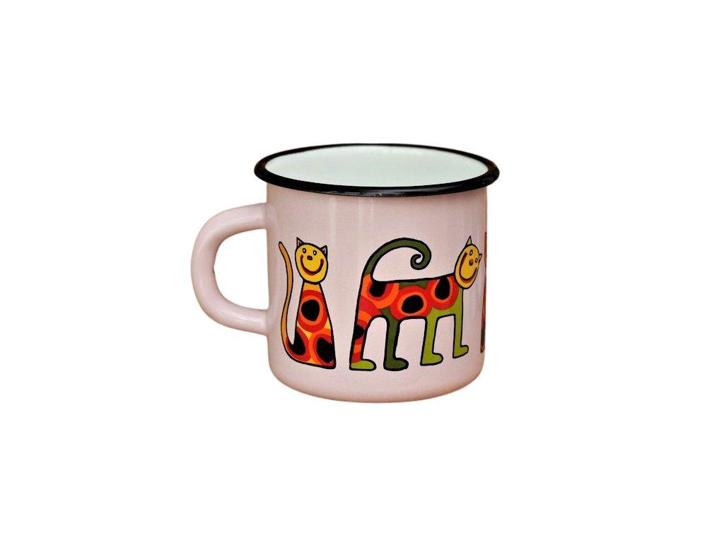 1461 enamel mug pink motive cat