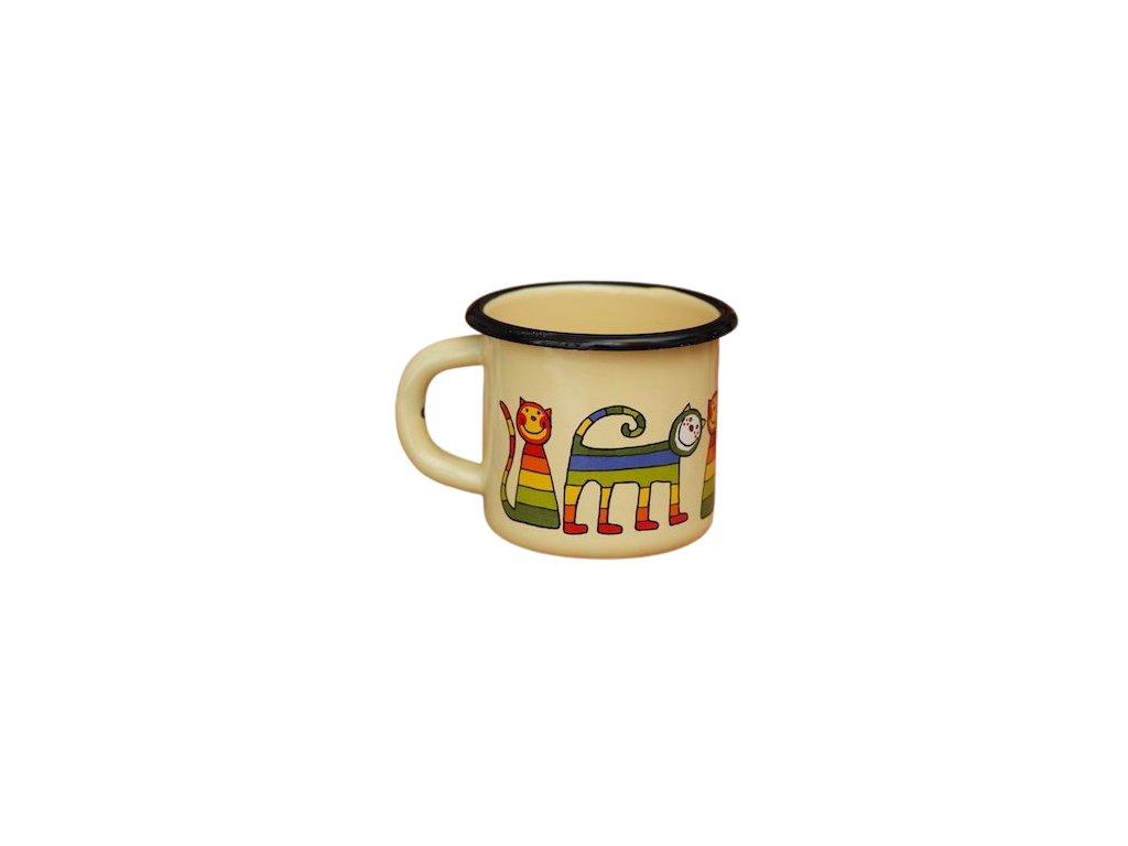 1509 enamel mug cream motive cat