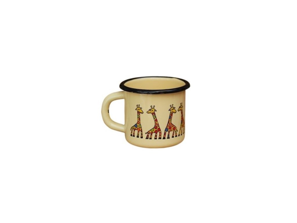 1512 enamel mug cream motive giraffe
