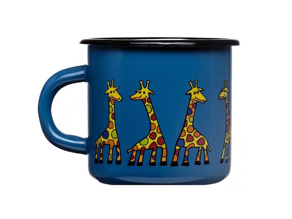 1536 enamel mug navy blue motive giraffe