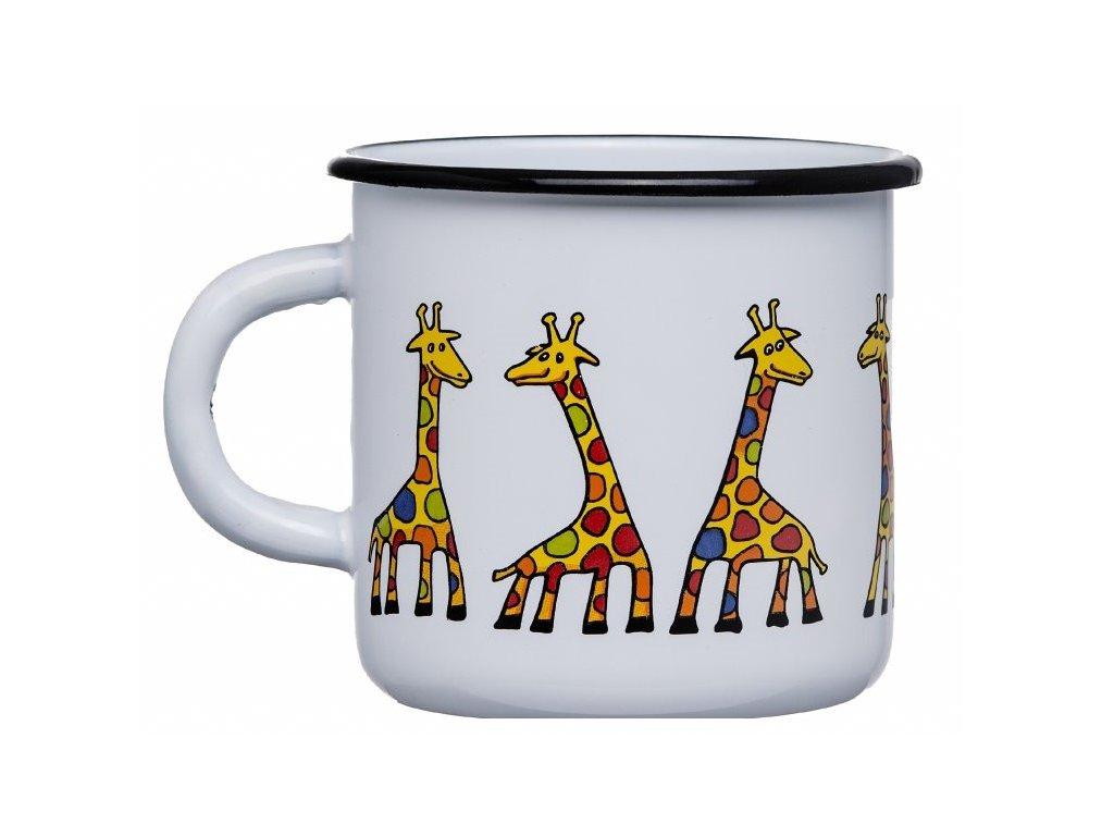 1656 enamel mug white motive giraffe