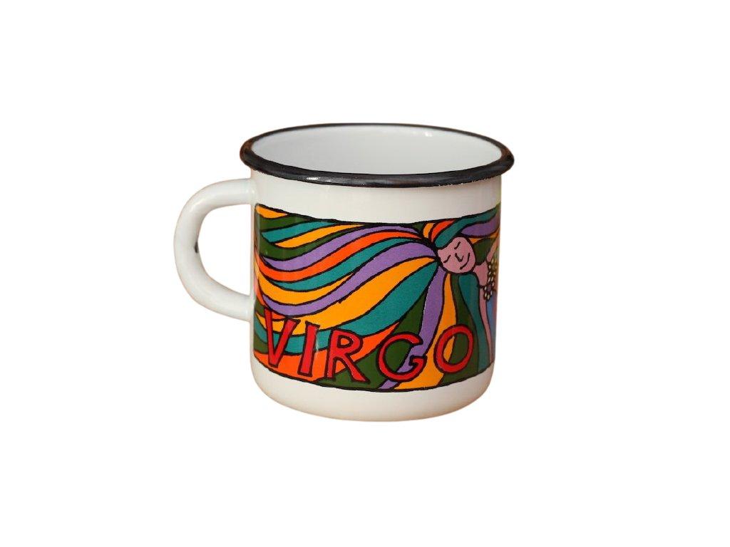 1713 enamel mug white zodiac sign virgo