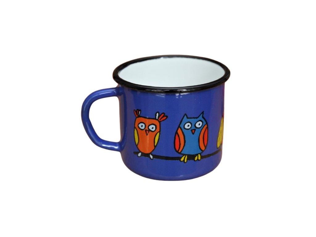 1881 enamel mug blue motiv owl