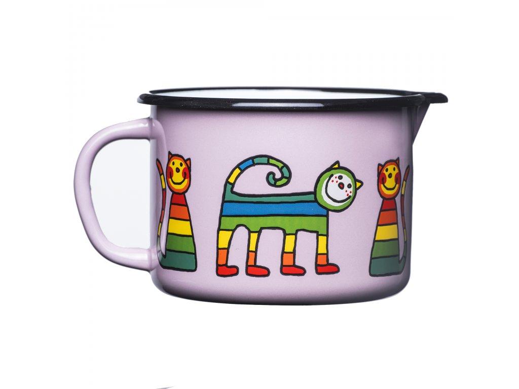 1884 5 mug with spout pink cat