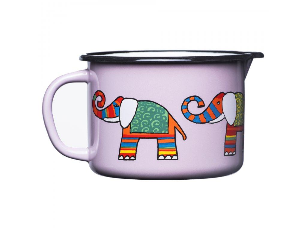 1887 5 mug with spout pink elephant