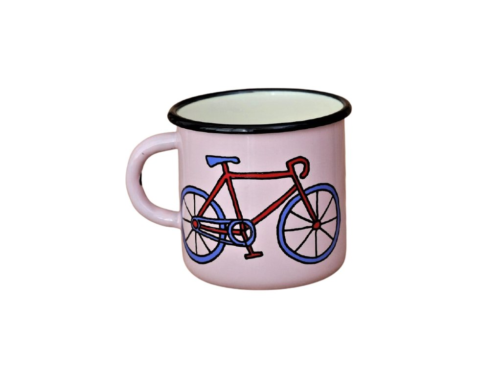 2079 pink mug with bikes