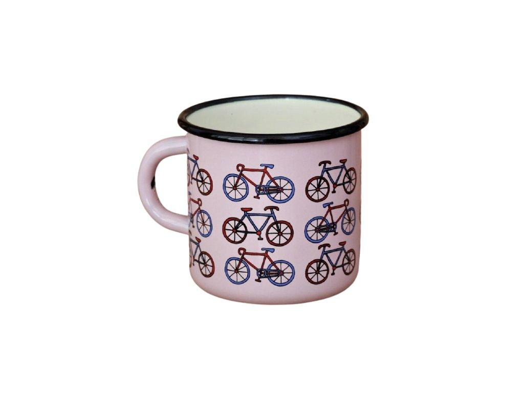 2082 pink mug with small bikes