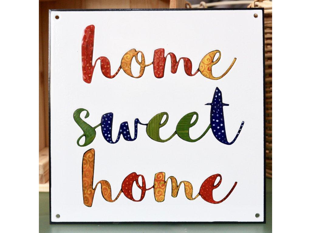 2093 enamel sign home sweet home