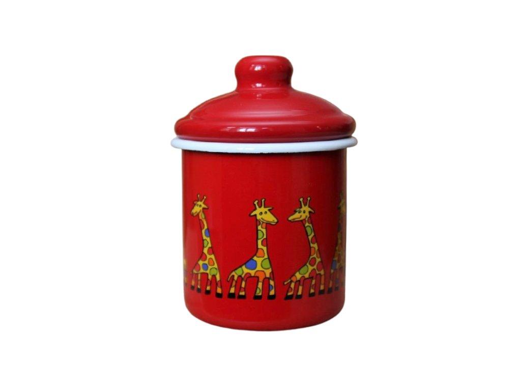 2141 red sugar bowl giraffe