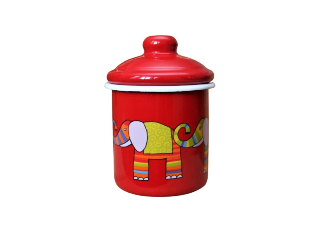 2144 red sugar bowl elephant