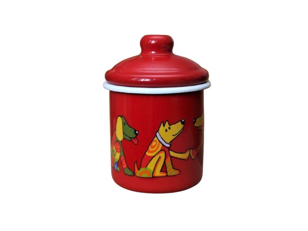2147 red sugar bowl dog