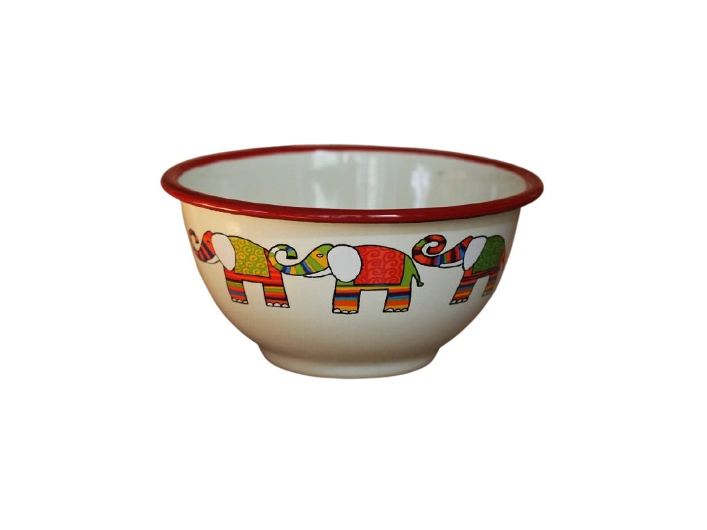 2174 cream bowl with elephant