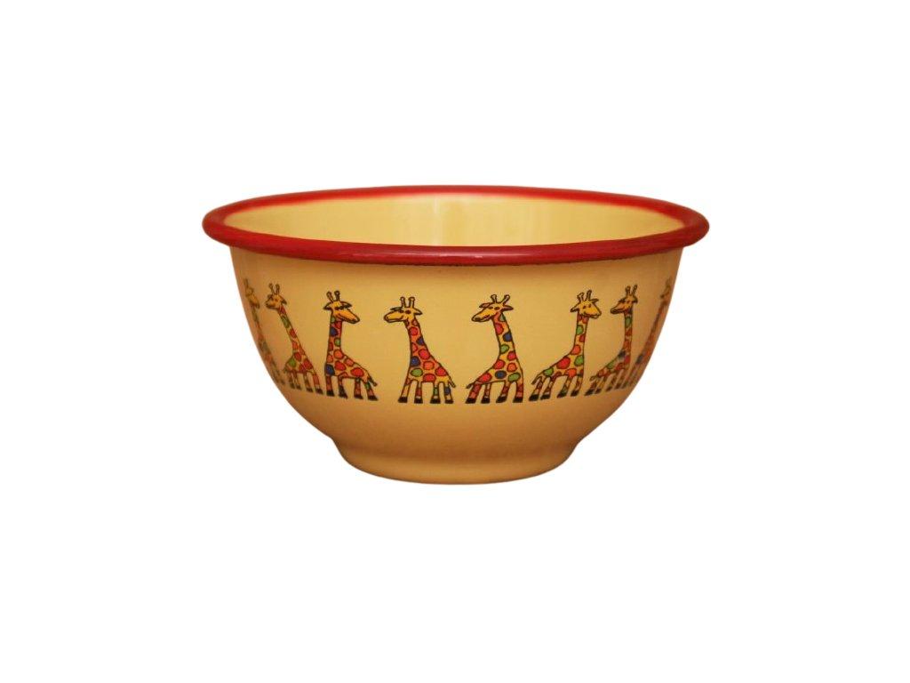 2195 yellow bowl with giraffe