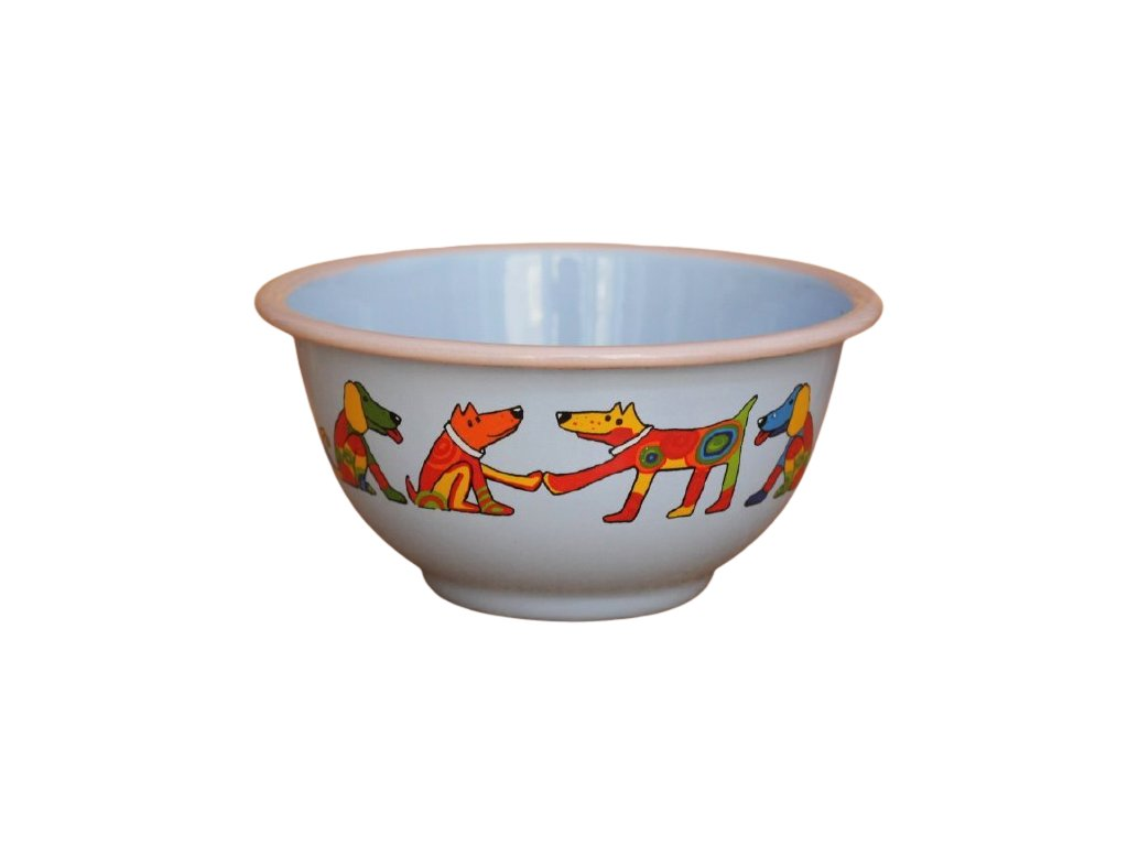 2225 blue bowl with dogs