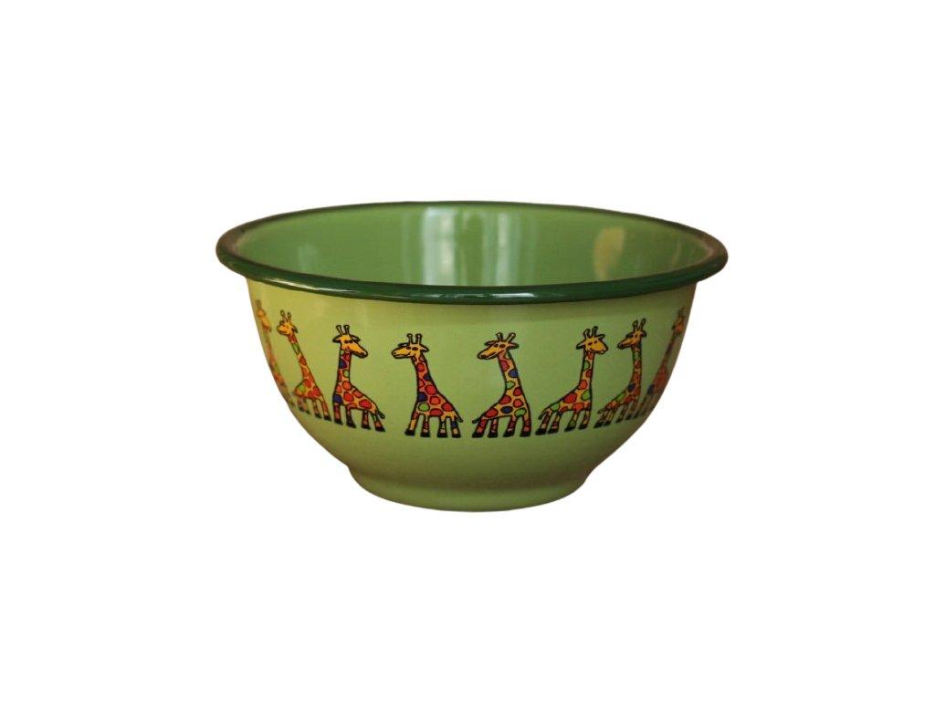 2243 green bowl with giraffe
