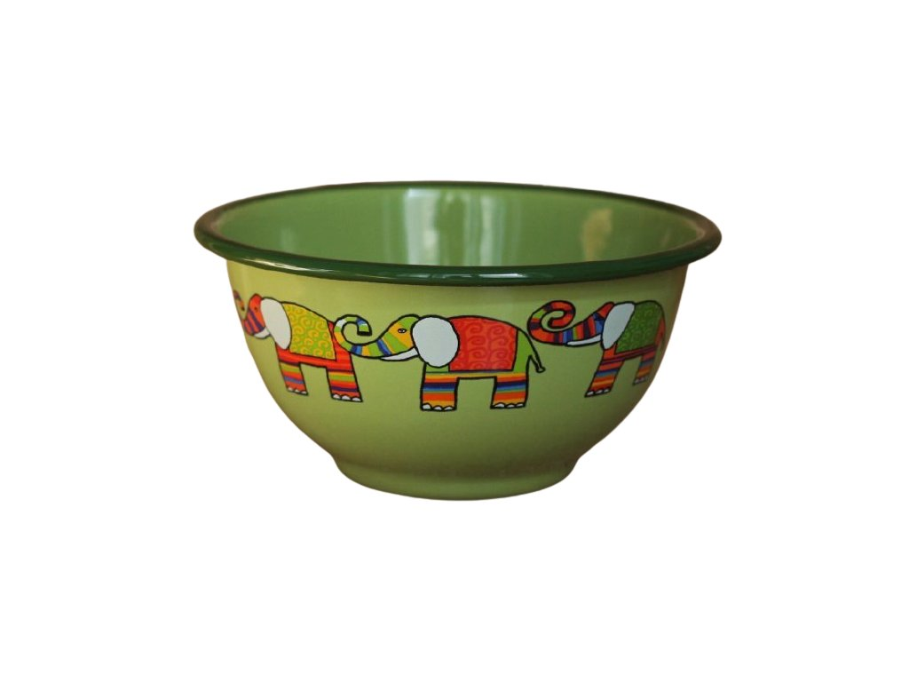 2246 green bowl with elephant