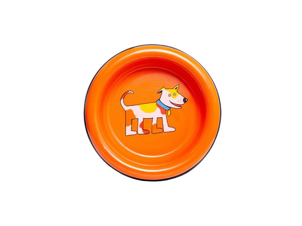 Smaltovana miska pes oranzova 2 3 removebg preview
