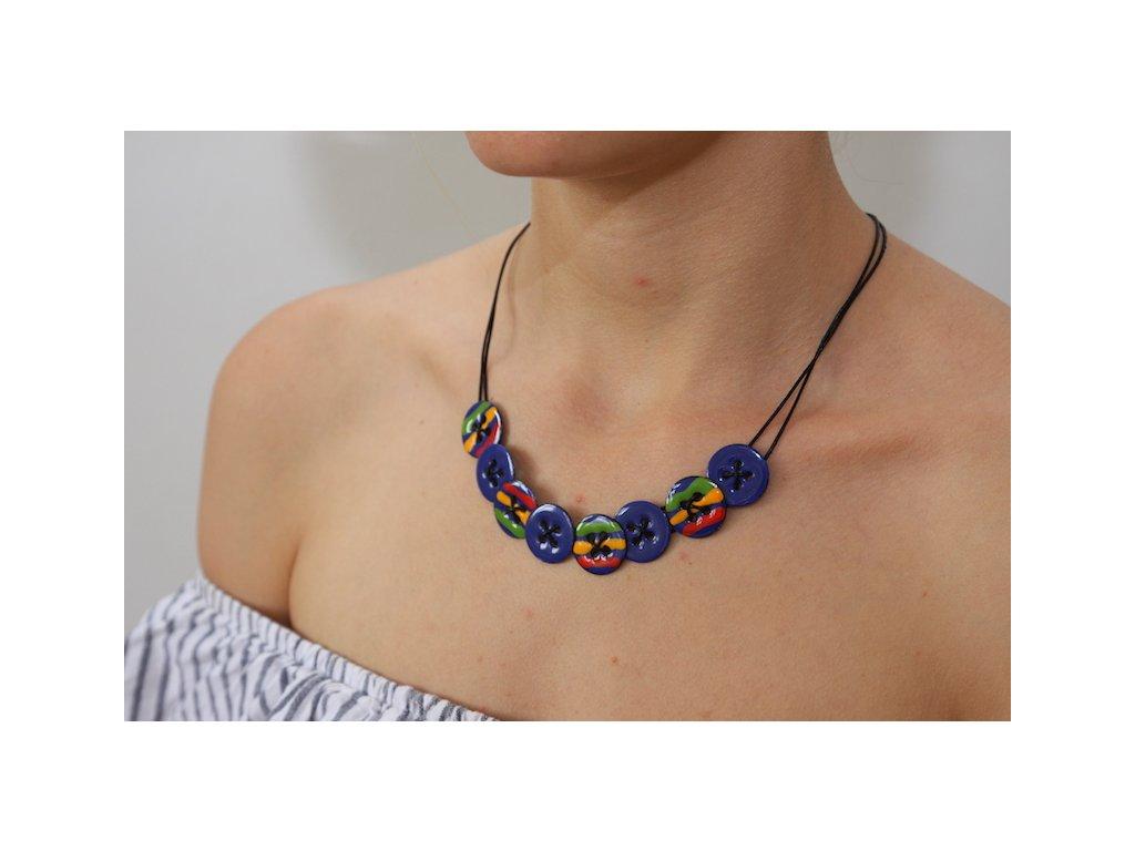 242 button necklace