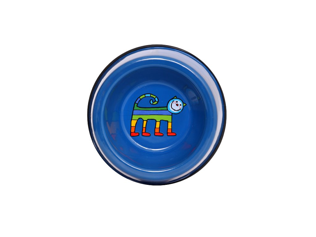 Smaltovana miska kocka modra mala removebg preview