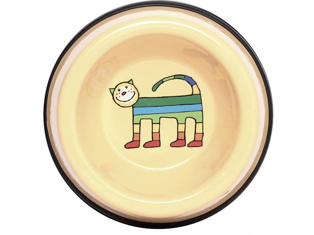Miska pro kocky smaltovana zluta kote 1 (4)