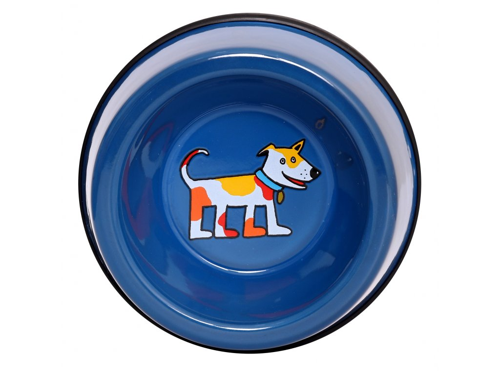 Dog bowl - blue (small)