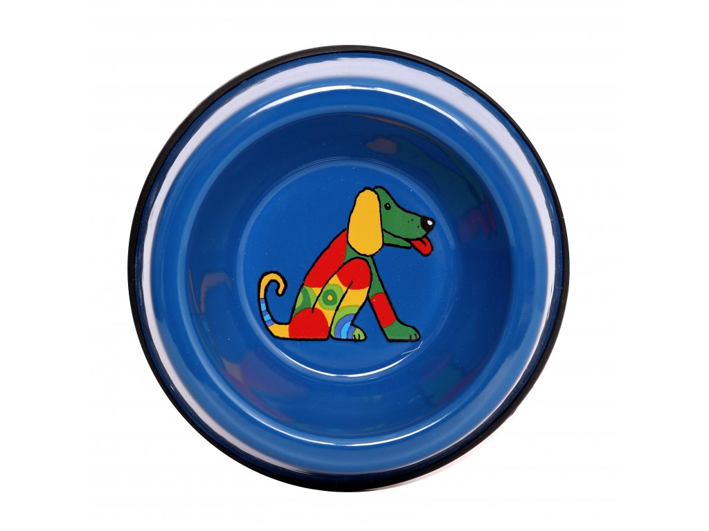 2501 3 dog bowl blue small