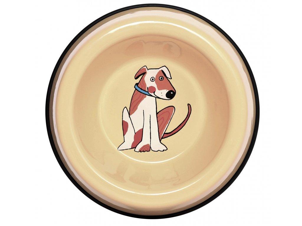 Miska pro kocky smaltovana zluta pes 5