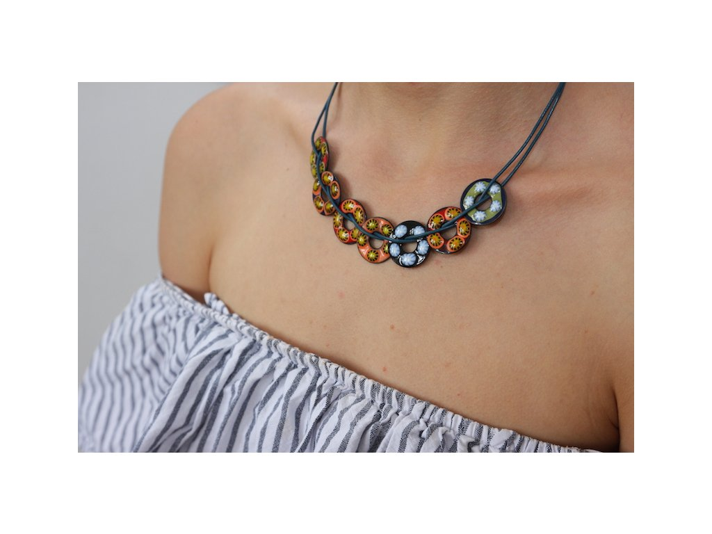 263 button necklace