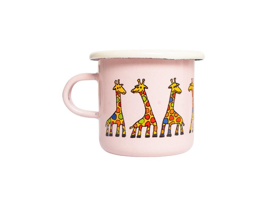 smaltovany espresso hrnek ruzovy žirafa 2 removebg preview
