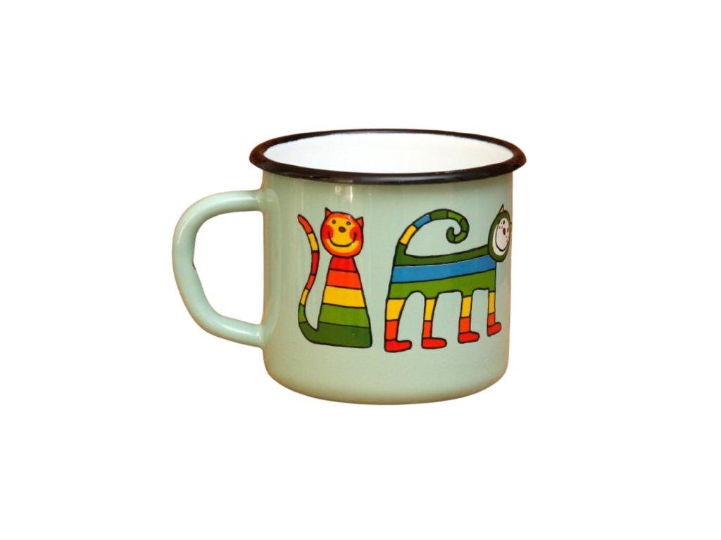 2840 turqoise mug with a cat