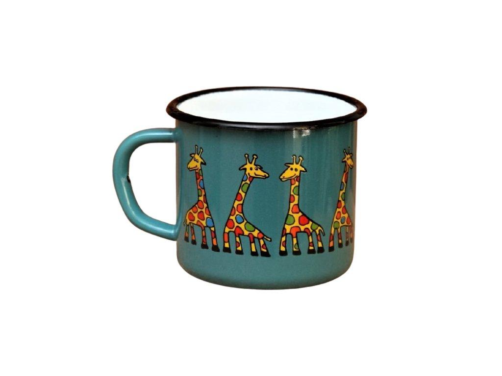 2873 enamel mug ocean color motive giraffe