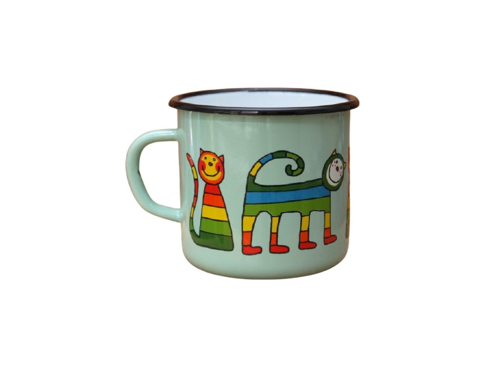 2888 turqoise mug with a cat