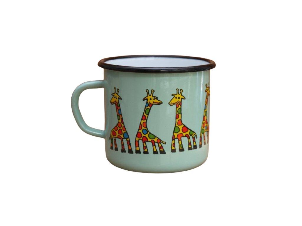 2891 turqoise mug with a giraffe