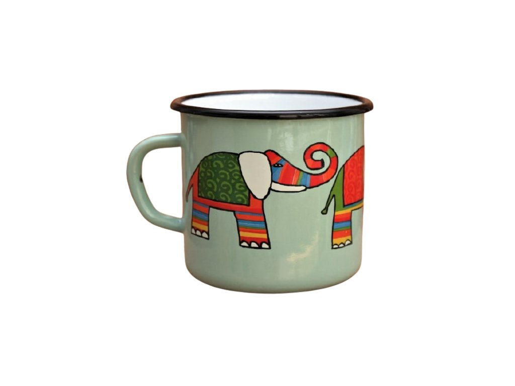 2894 turqoise mug with an elephant