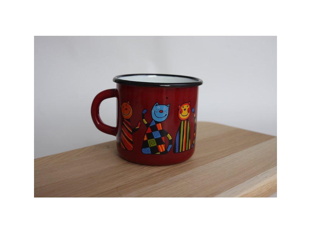 3068 mug cat with checks and stripes