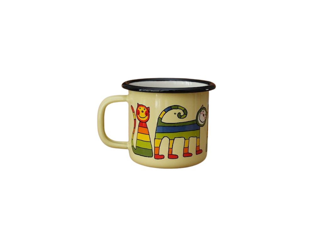 3224 mug with rainbow cat zluta