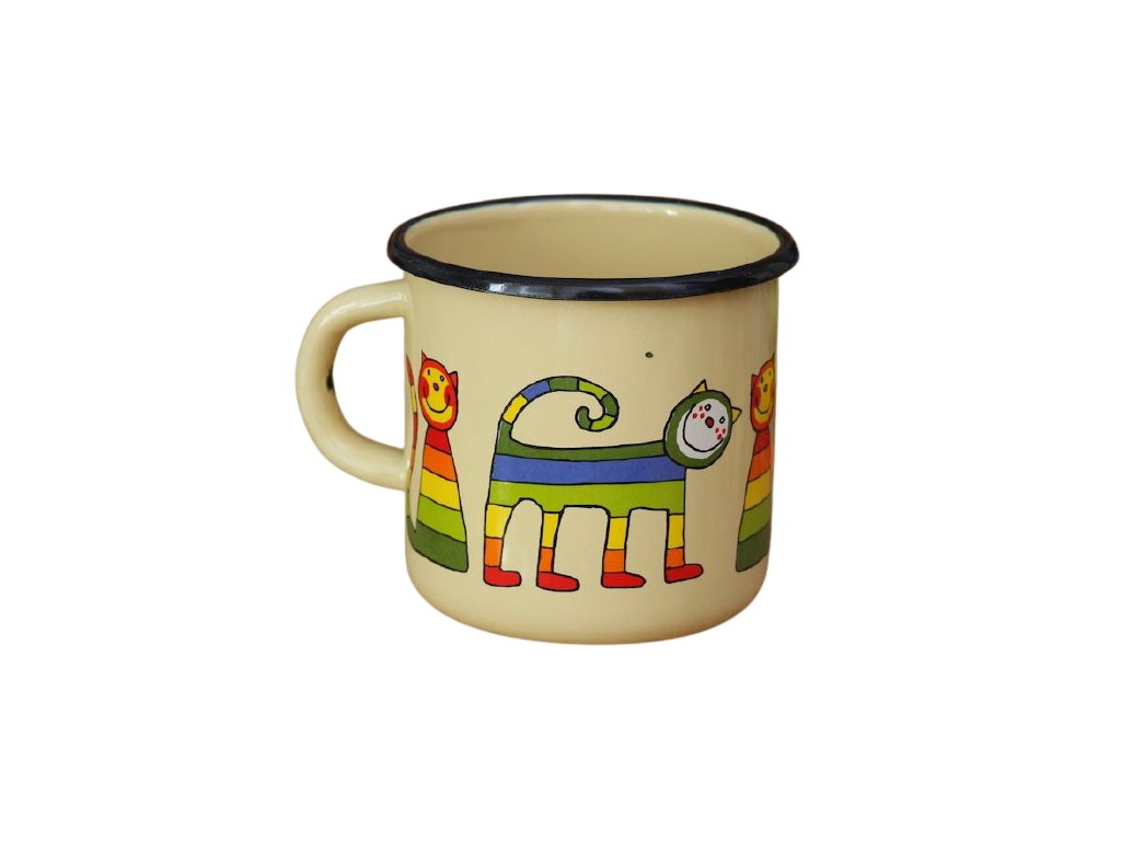3347 1 enamel mug cream motive cat