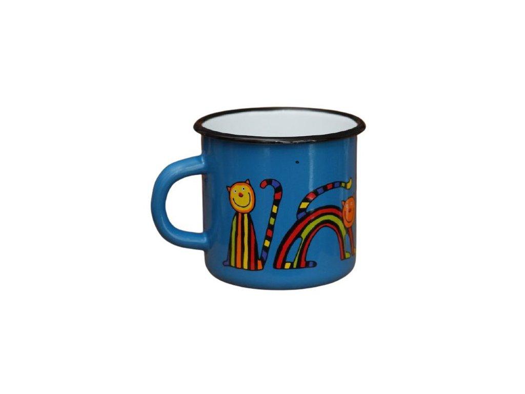 3362 5 enamel mug navy blue motive cat