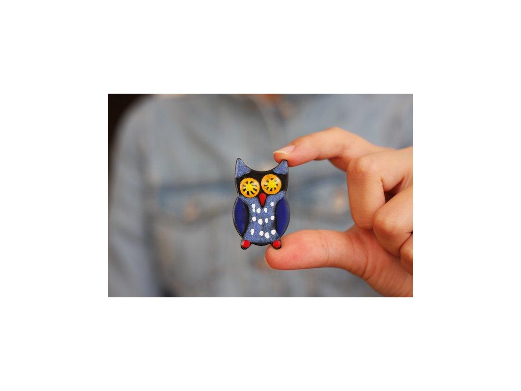 344 brooch owl