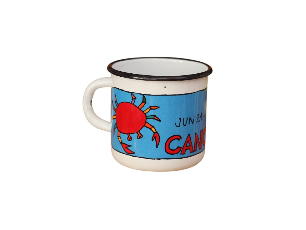 3623 1 enamel mug white zodiac sign cancer